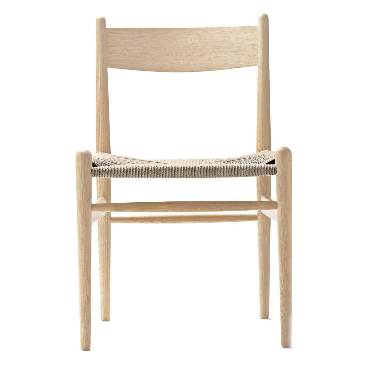 Carl Hansen   CH36 Chair, Soaped Oak / Natural Woven Paper Cord