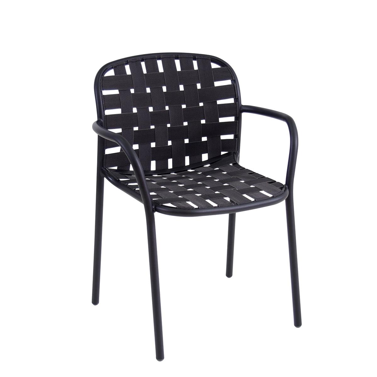Genial Armlehnstuhl Grau Beste Wahl The Emu - Yard Armchair, Black /