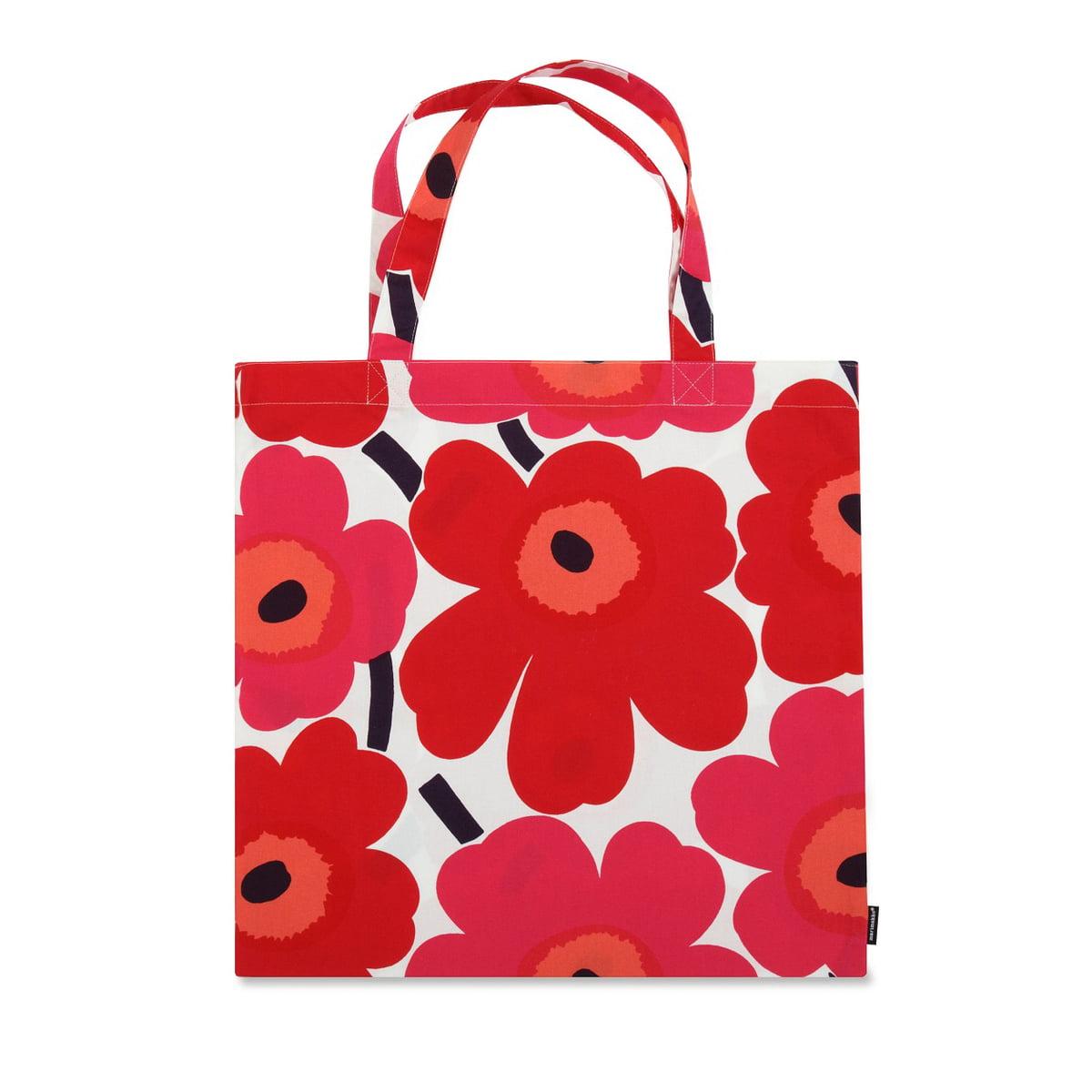 Marimekko Pieni Unikko Cotton Bag Red White