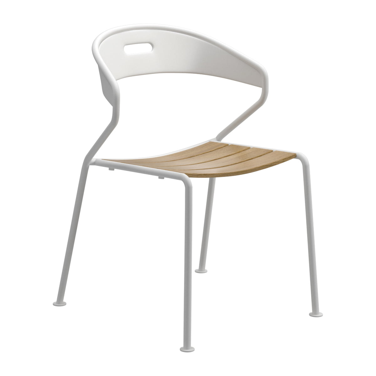 The Gloster   Curve Chair, Teak / White