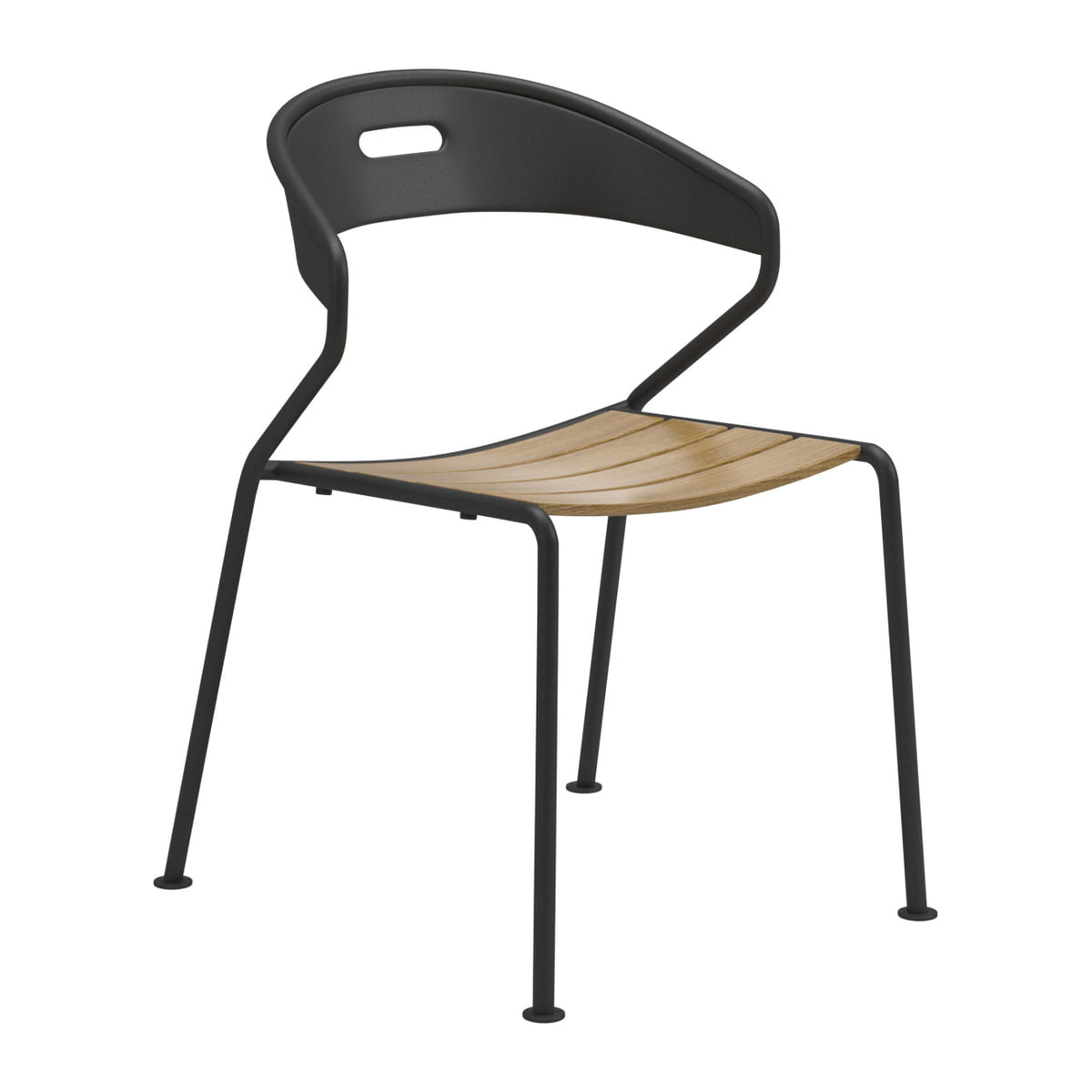 Gloster   Curve Chair, Teak / Meteor