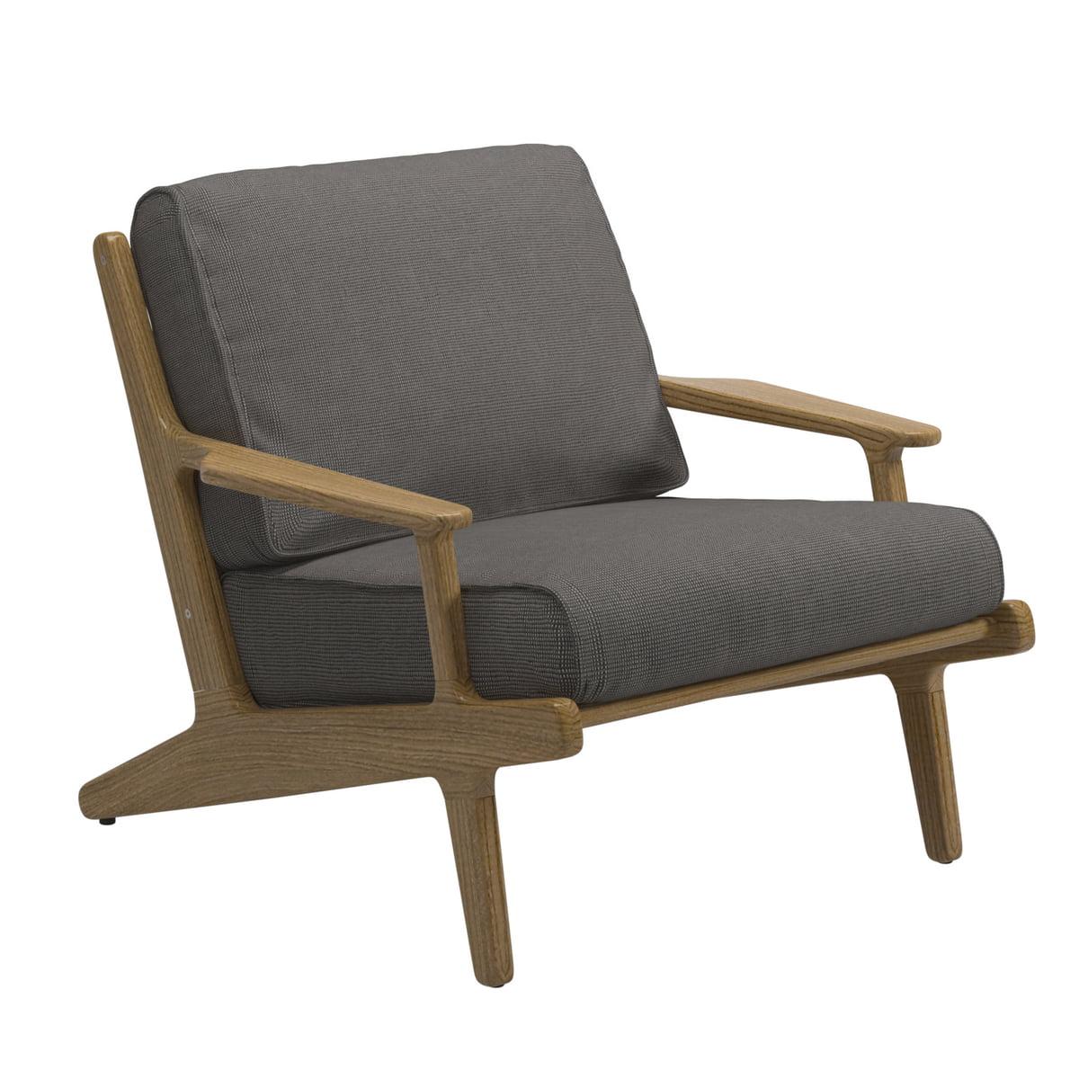 Gloster   Bay Lounge Chair, Teak Frame / Gran Sunbrella Cover