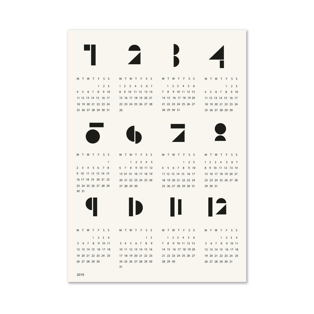 Snug Poster Calendar Toyblocks Connox