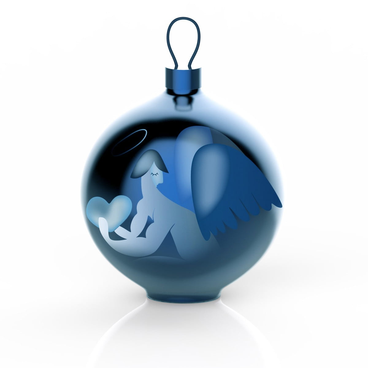 Material Christbaumkugeln.Alessi Blue Christmas Christmas Baubles Angel