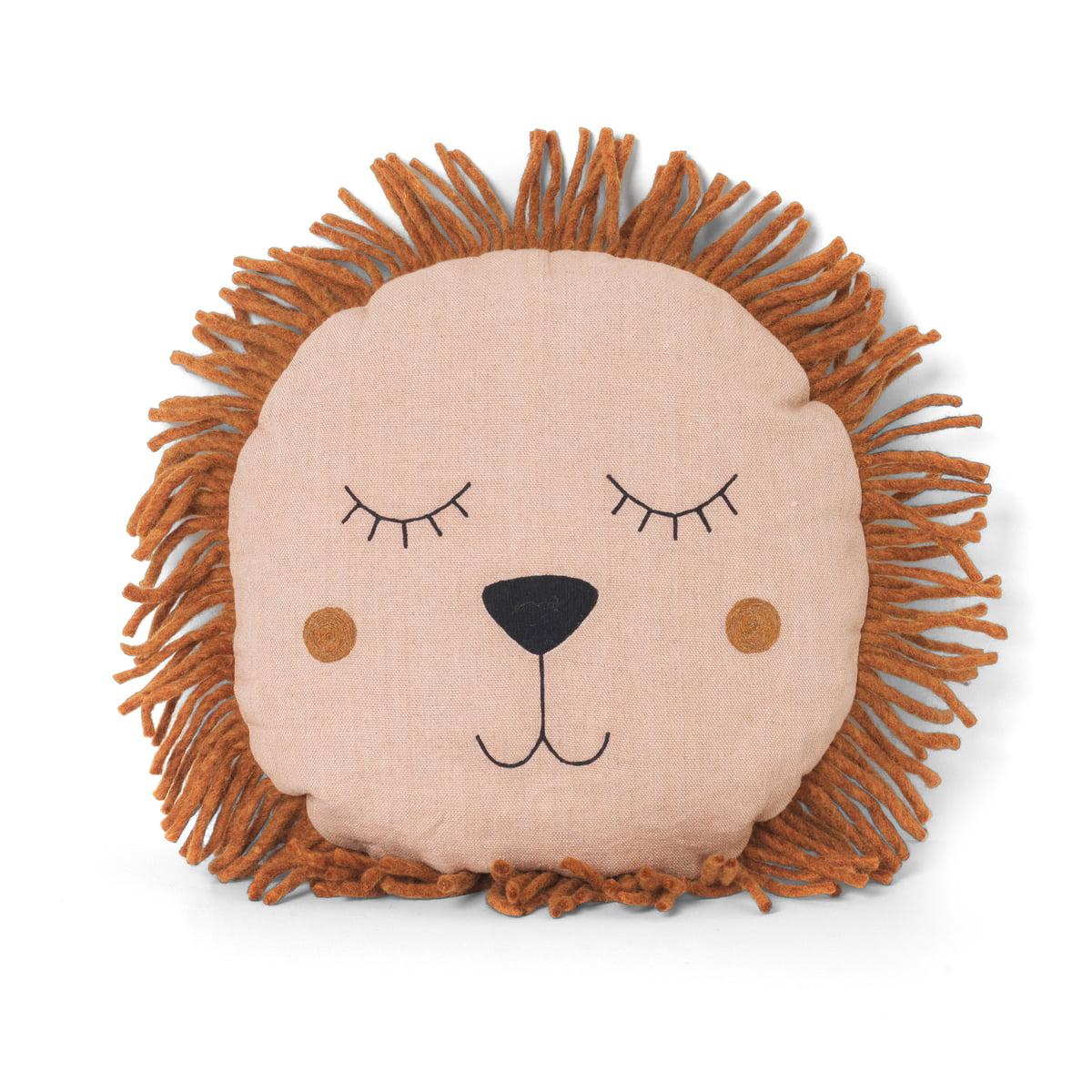 Ferm Living Safari Cushion Lion Pink