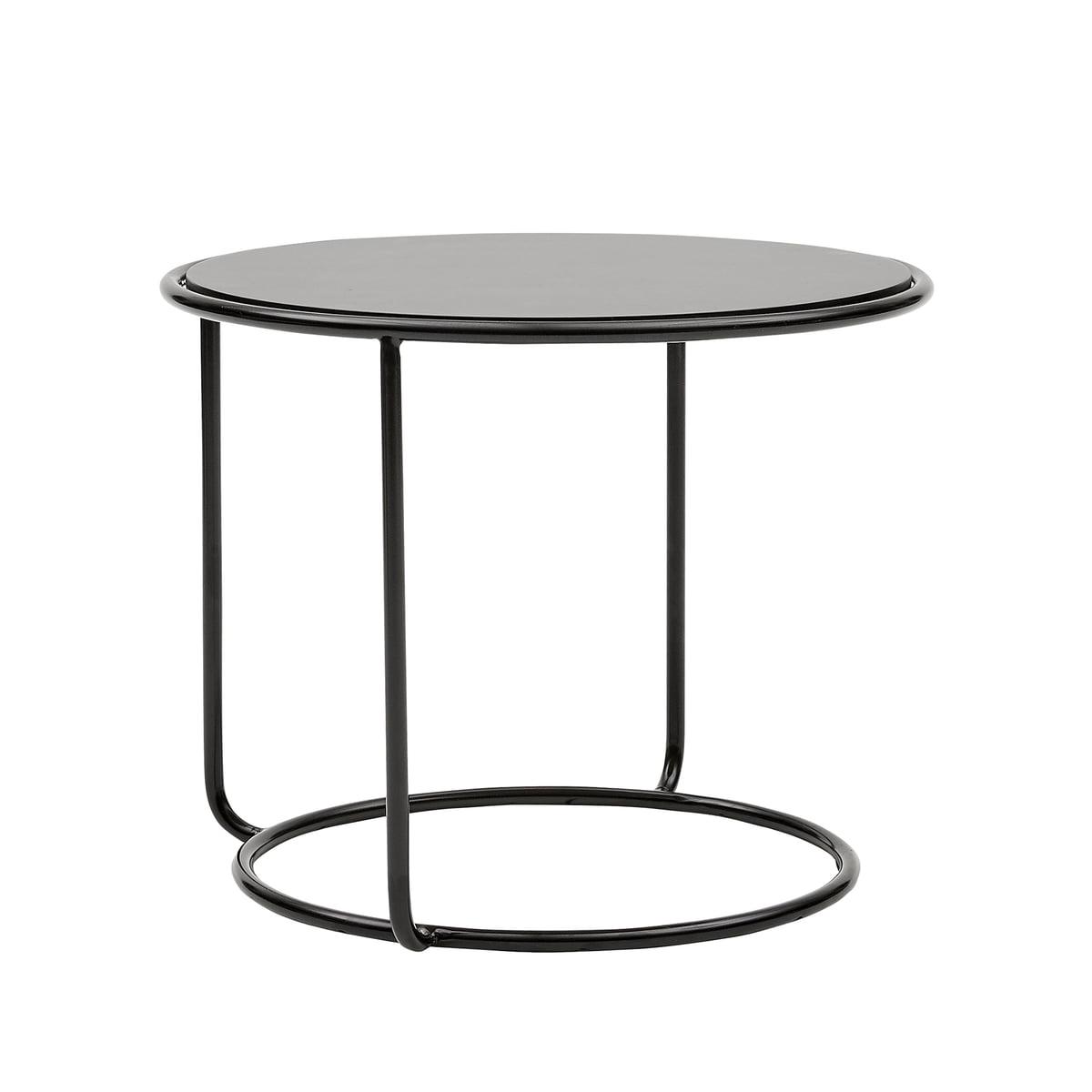 Side Table Tom.Softline Tom Pouf And Side Table O 58 X H 47 Cm Black Vision Hellgau 445