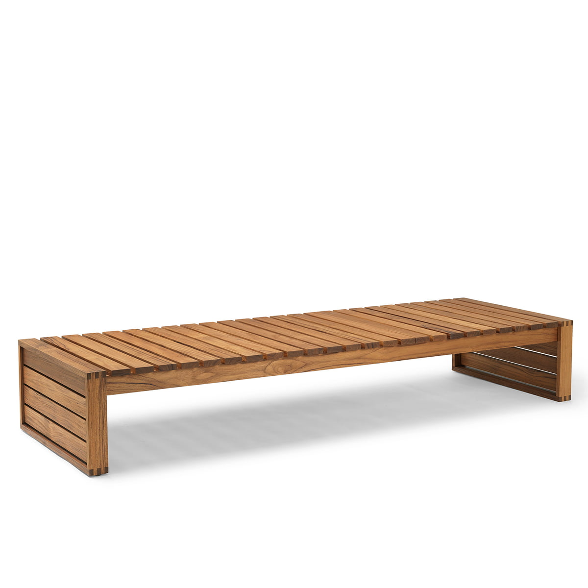 Bk14 sunlounger by carl hansen oiled in teak