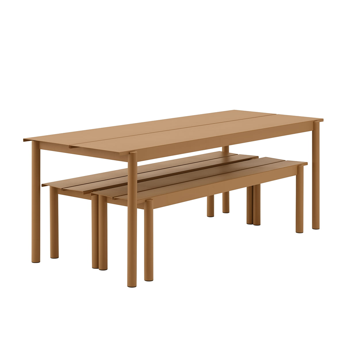 Fine Muuto Linear Steel Bench 110 Cm White Creativecarmelina Interior Chair Design Creativecarmelinacom