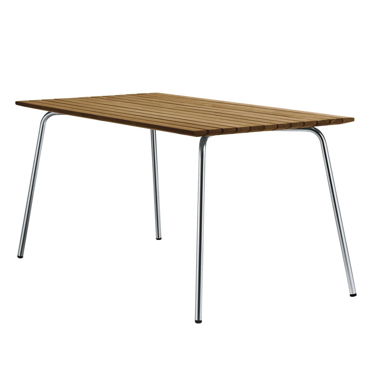Gartentisch 150.Thonet S 1040 Garden Table 150 X 78 Cm Round Stainless Steel Tube Iroko All Seasons