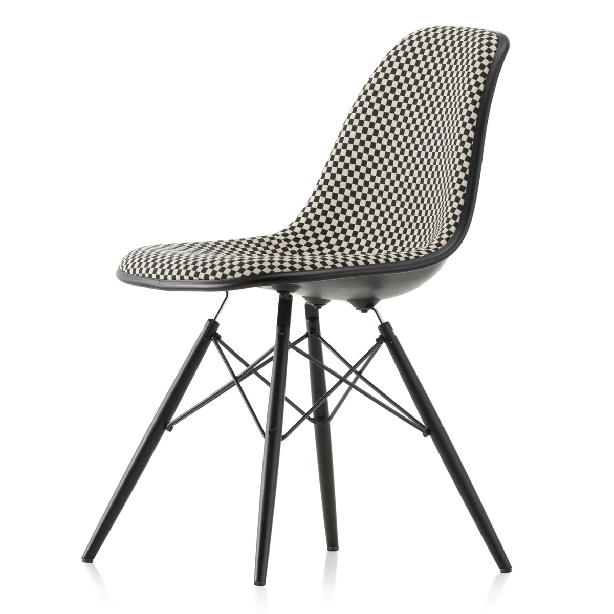vitra eames plastic side chair dsw full upholstery. Black Bedroom Furniture Sets. Home Design Ideas