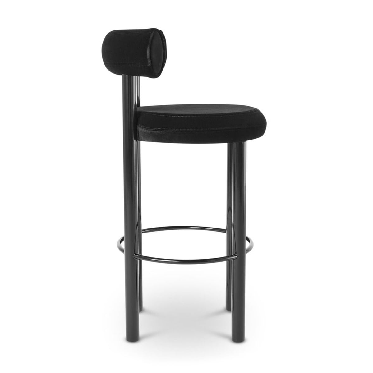 Wondrous Tom Dixon Fat Bar Stool Black Gmtry Best Dining Table And Chair Ideas Images Gmtryco