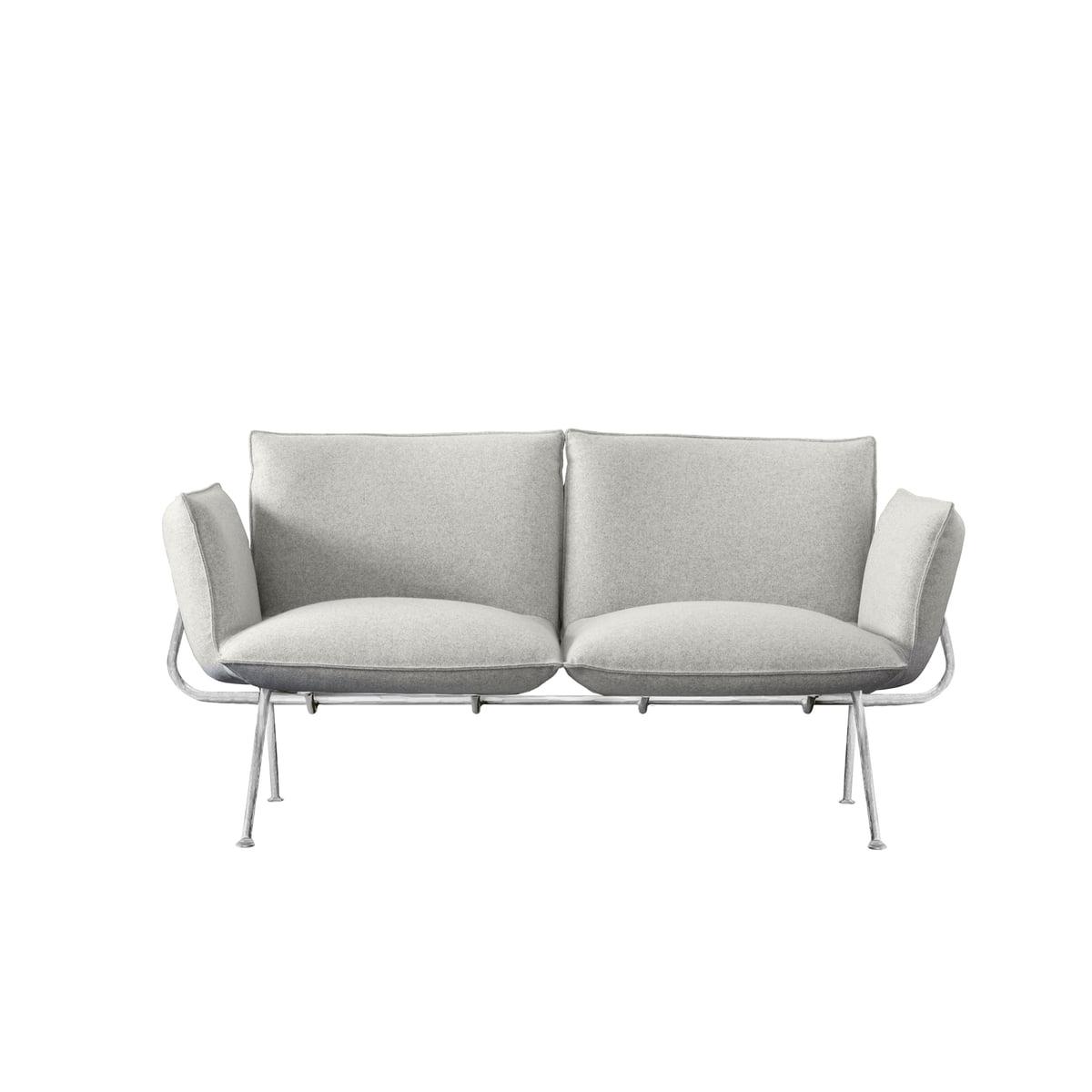 Remarkable Magis Officina 2 Seater Sofa Galvanised Frame Cover Light Grey Divina Melange 120 Inzonedesignstudio Interior Chair Design Inzonedesignstudiocom