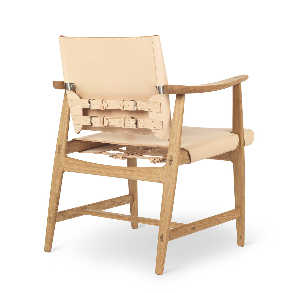 Admirable Carl Hansen Bm1160 Huntsman Chair Oak Oiled Natural Saddle Leather Stainless Steel Fittings Evergreenethics Interior Chair Design Evergreenethicsorg