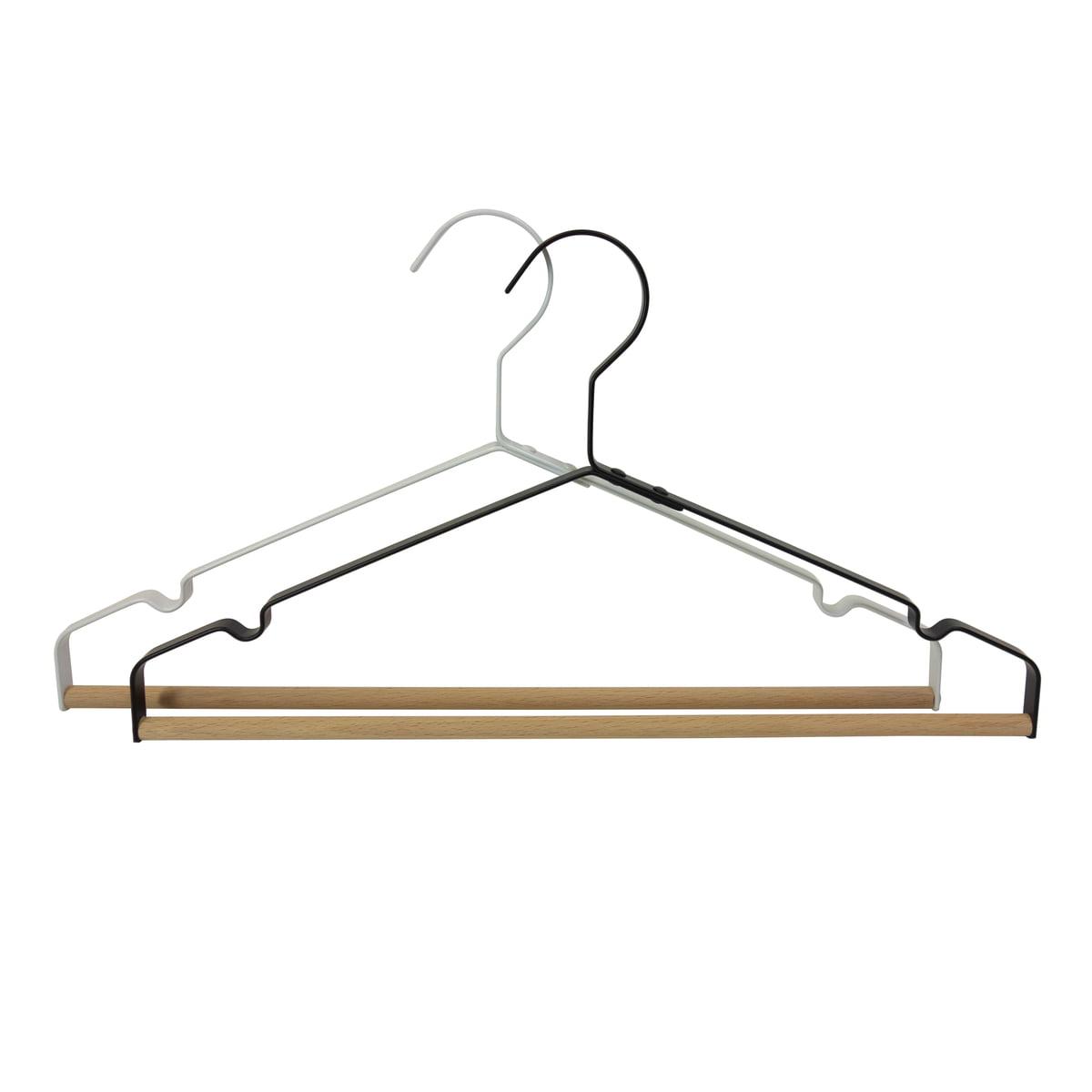 h 19 cm Peppermint Products Loop Hanger Kleiderbügel 3er-Set rot rot 41 x 3 cm