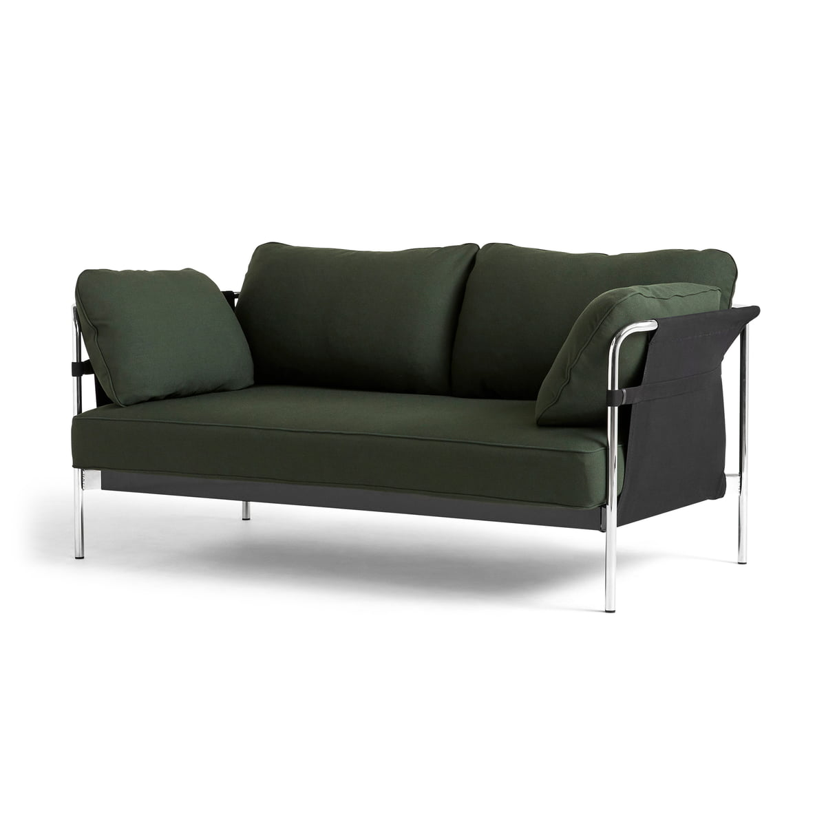 Phenomenal Hay Can 2 0 Sofa 2 Seater Chrome Can Vas Black Steelcut 975 Dark Green Andrewgaddart Wooden Chair Designs For Living Room Andrewgaddartcom