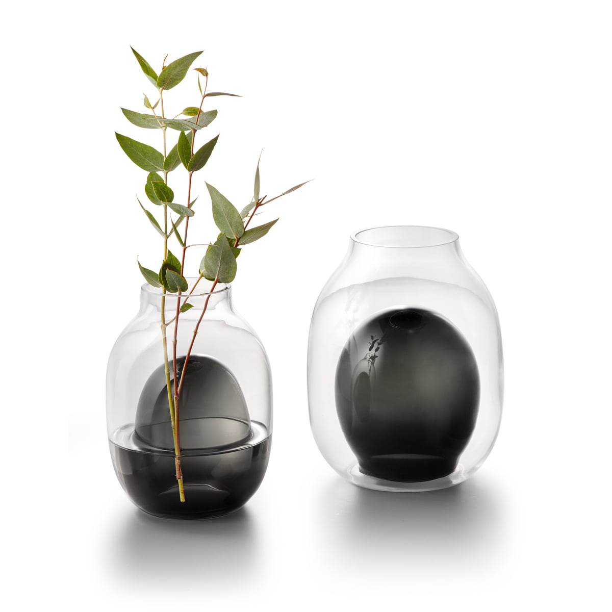 200 x Glasperlen türkis; H22 rund stone look schwarz 4 mm