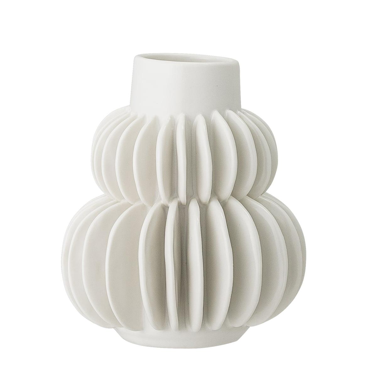 Bloomingville   earthenware vase Ø 20,20 x 20 cm, white