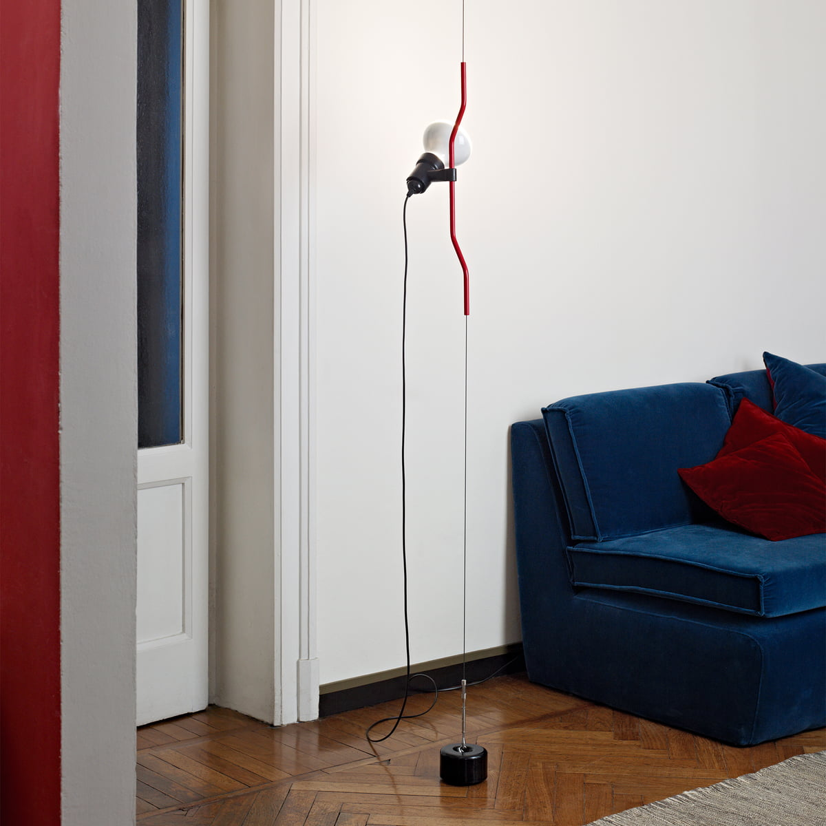 Parentesi floor lamp by Flos in the shop
