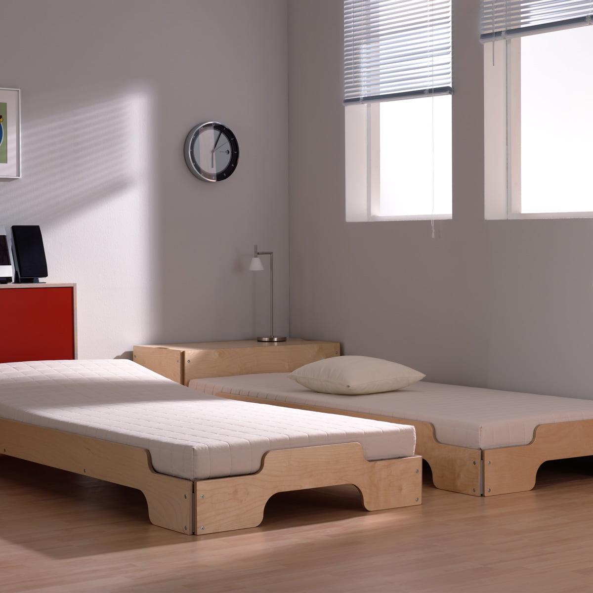 stacking bed in birch rolf heide shop. Black Bedroom Furniture Sets. Home Design Ideas