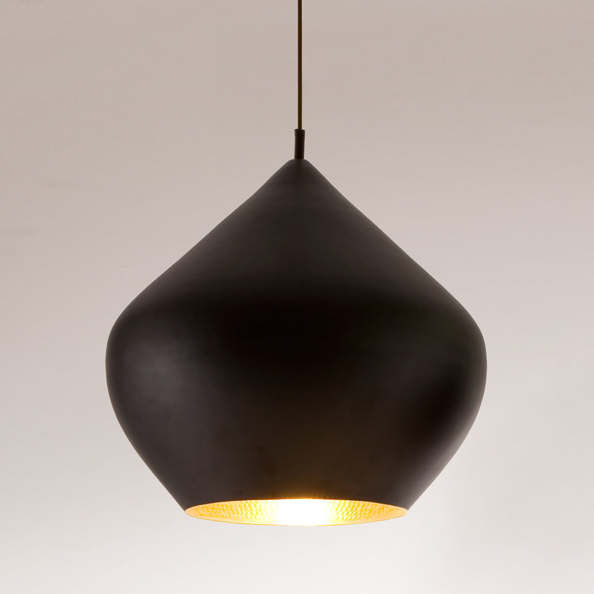 Tom Dixon Beat Light Stout Pendant Lamp In Black
