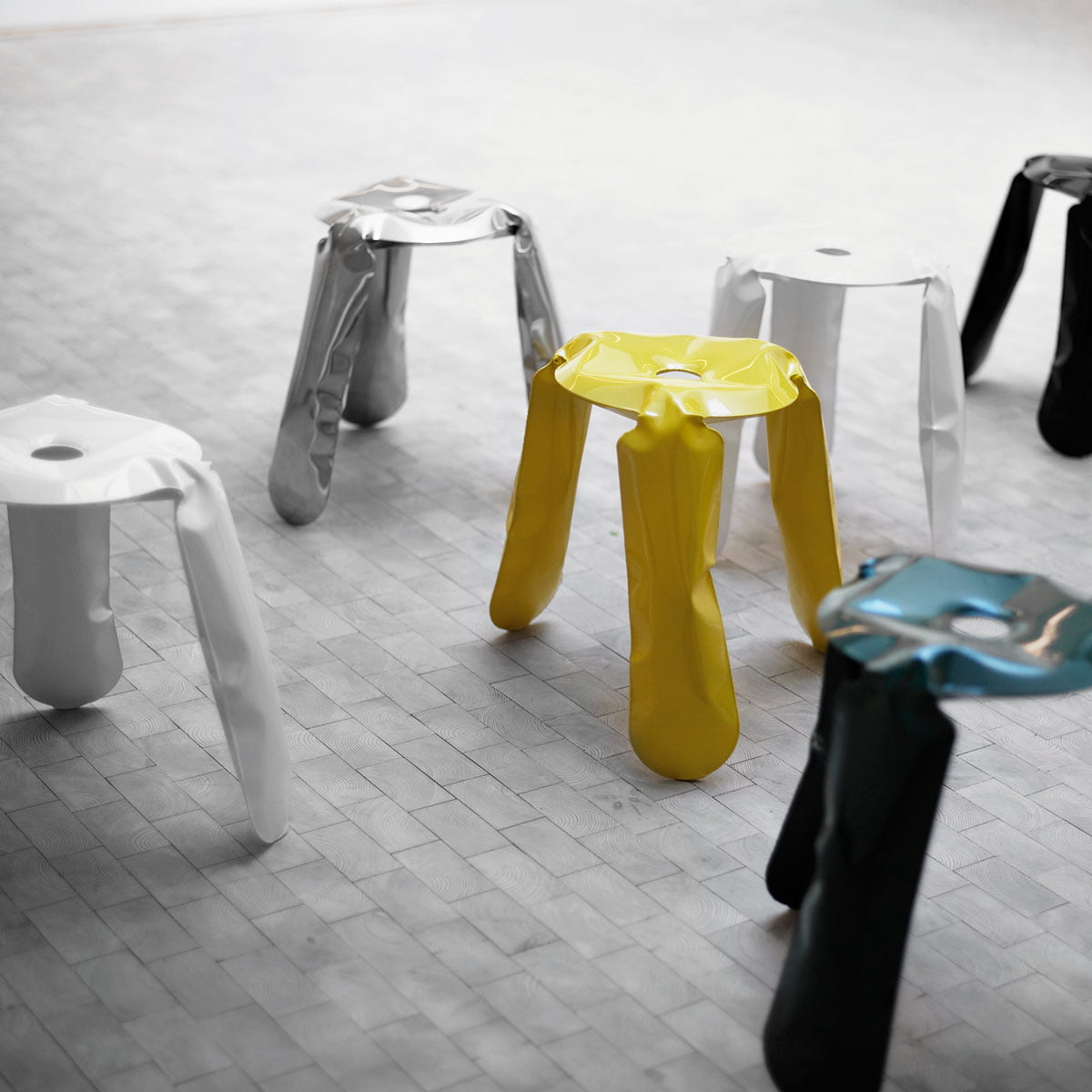 The plopp stool by zieta in the shop for Couch hocker