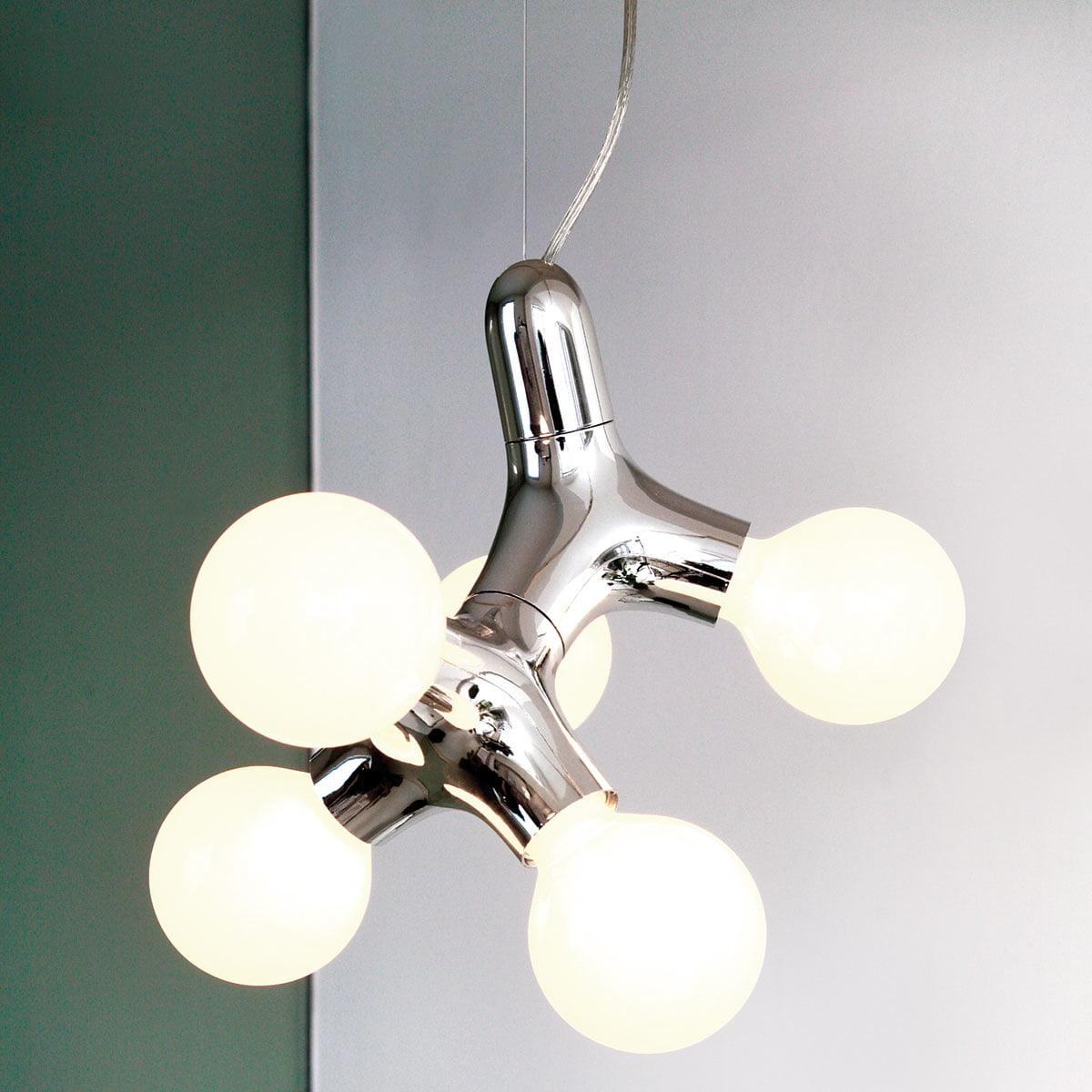 Dna pendant lamp by hopf wortmann for next next dna pendant lamp double chrome mozeypictures Images