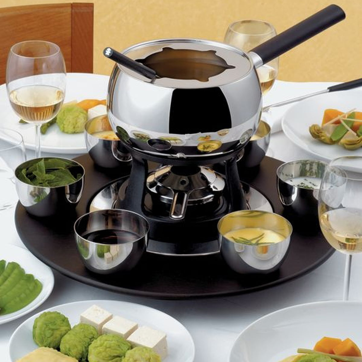 alessi mami fondue and bourguignonne set. Black Bedroom Furniture Sets. Home Design Ideas