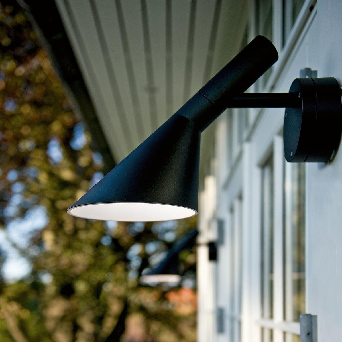 Aj outdoor wall light led by louis poulsen louis poulsen aj outdoor wall light led workwithnaturefo