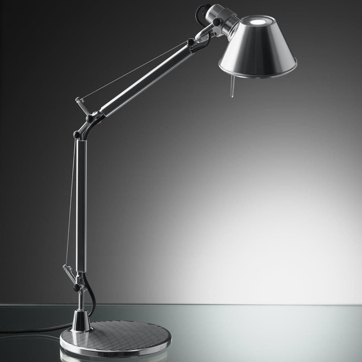 artimide lighting. artemide tolomeo micro table lamp, aluminium artimide lighting