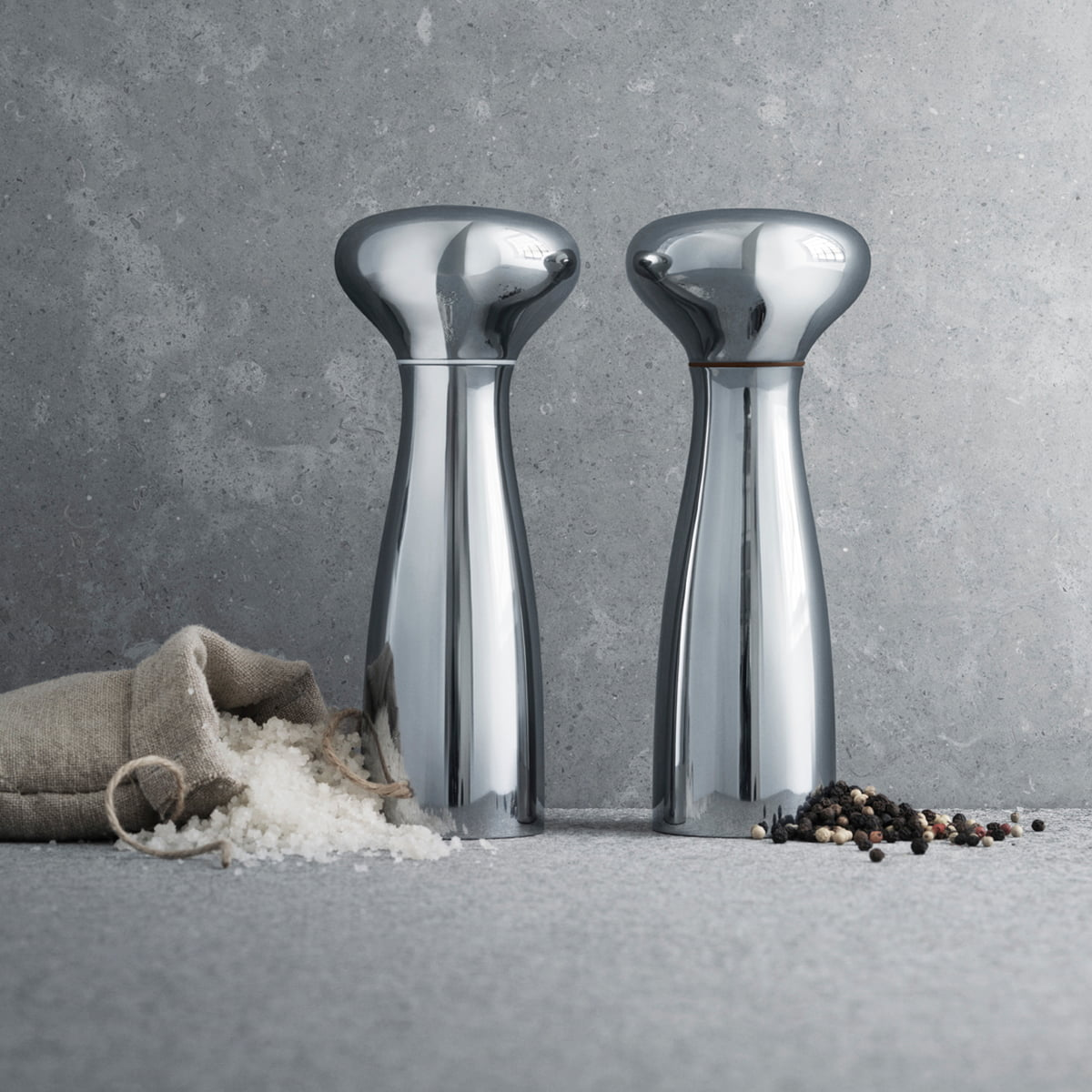georg jensen alfredo salt and pepper grinders. Black Bedroom Furniture Sets. Home Design Ideas
