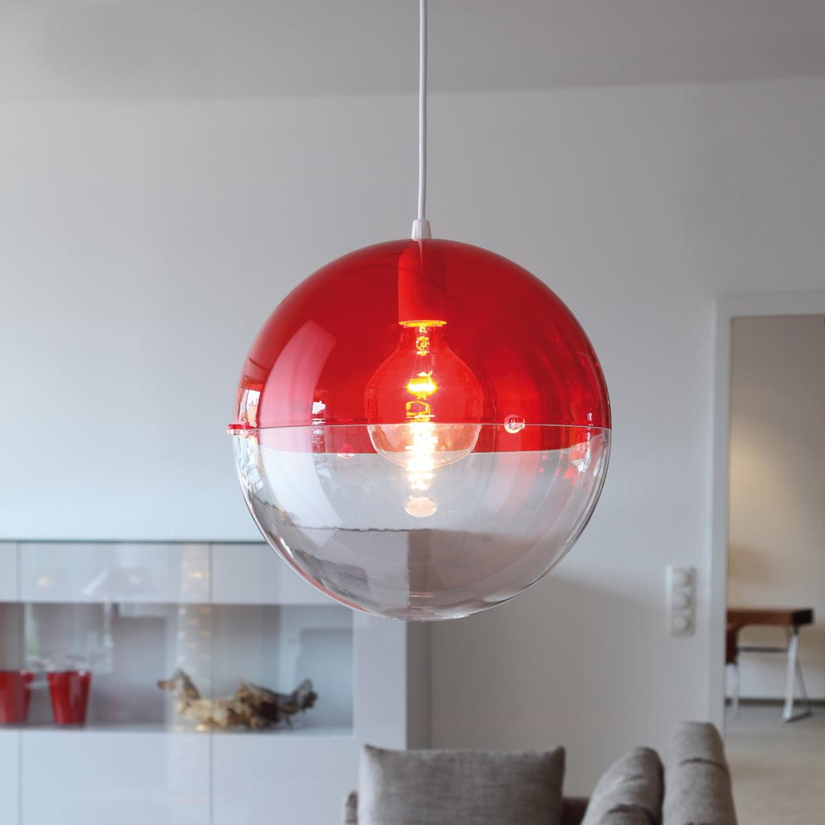 Koziol Orion Pendant Lamp Transpa Red
