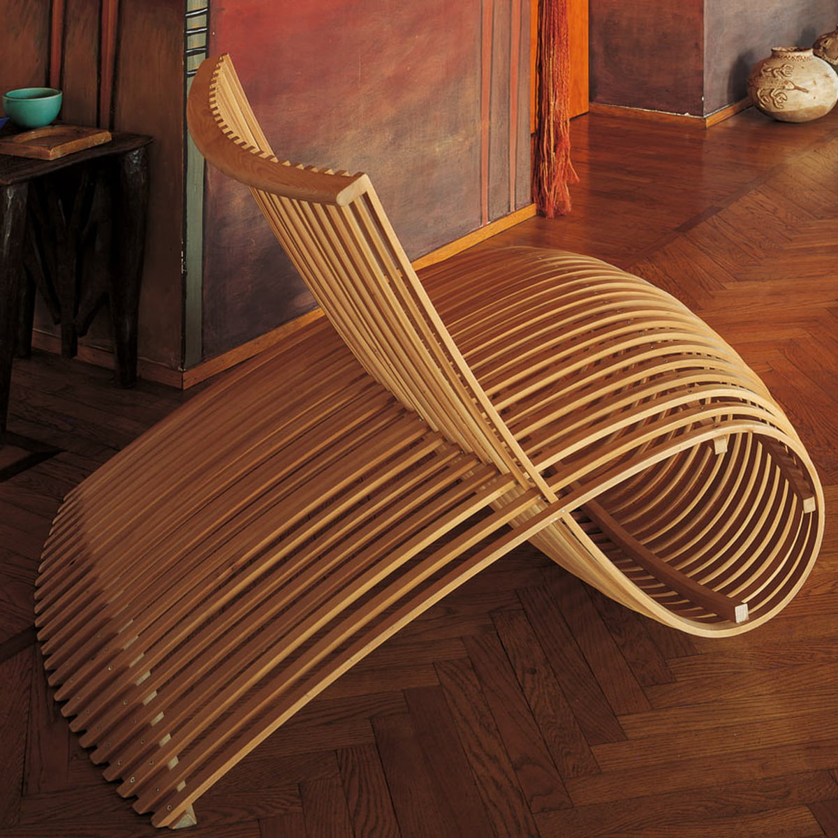 Wooden Chair by Cappellini in the shop