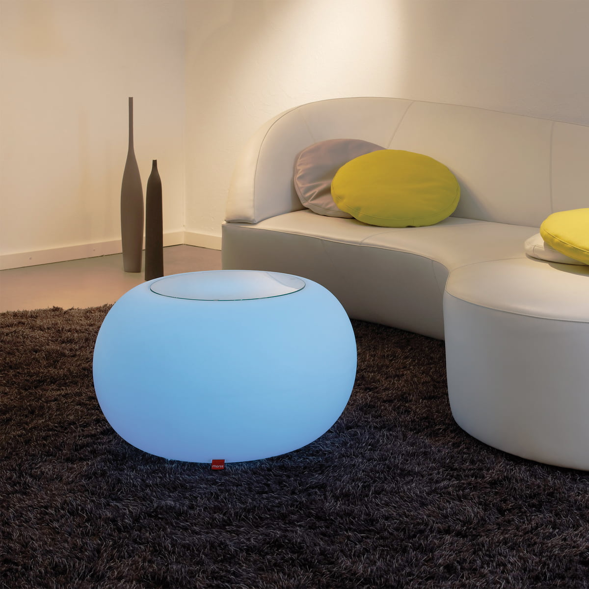 Attractive Moree   Bubble Indoor LED   Side Table With Glass Top