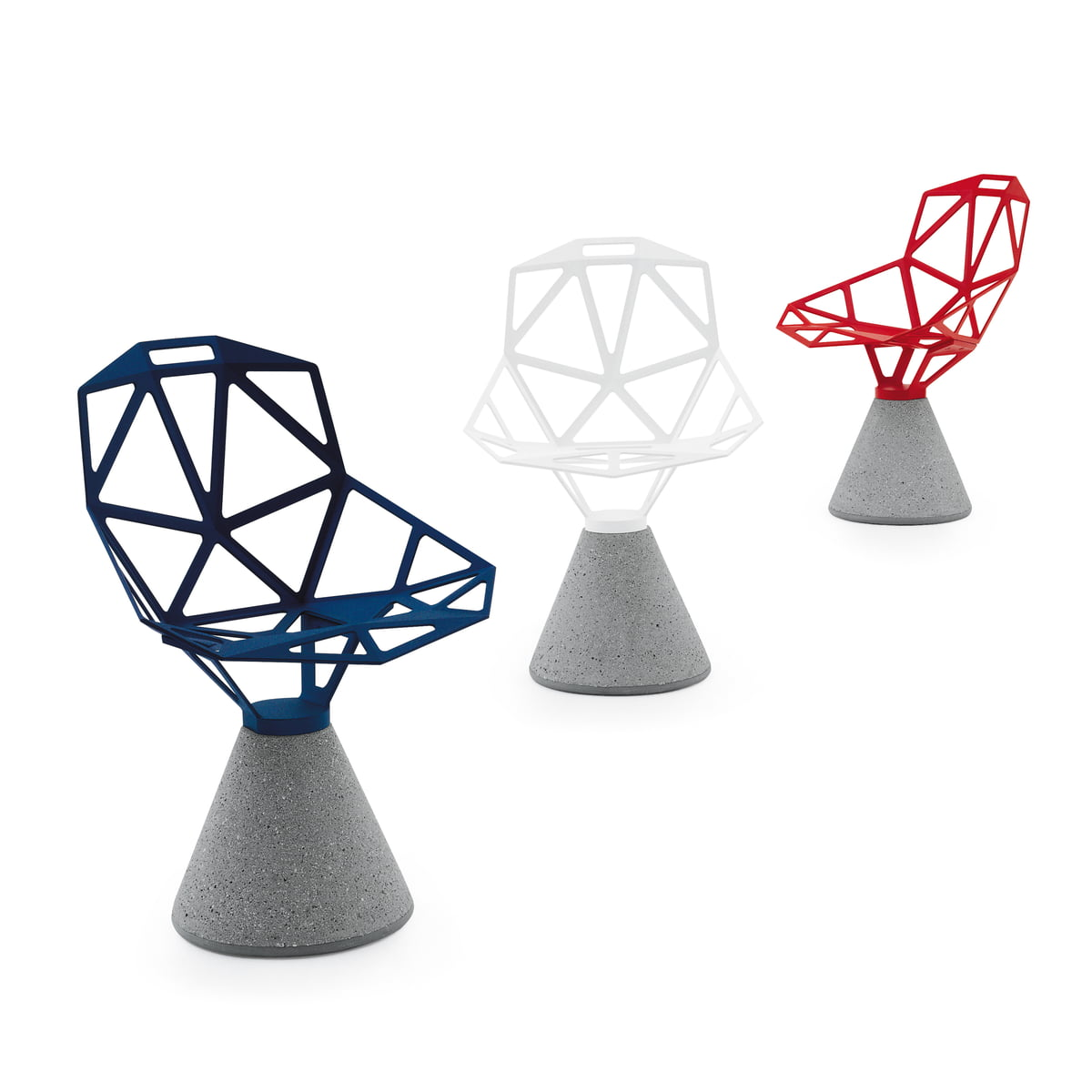 Chair one with concrete base magis shop for Magis chair