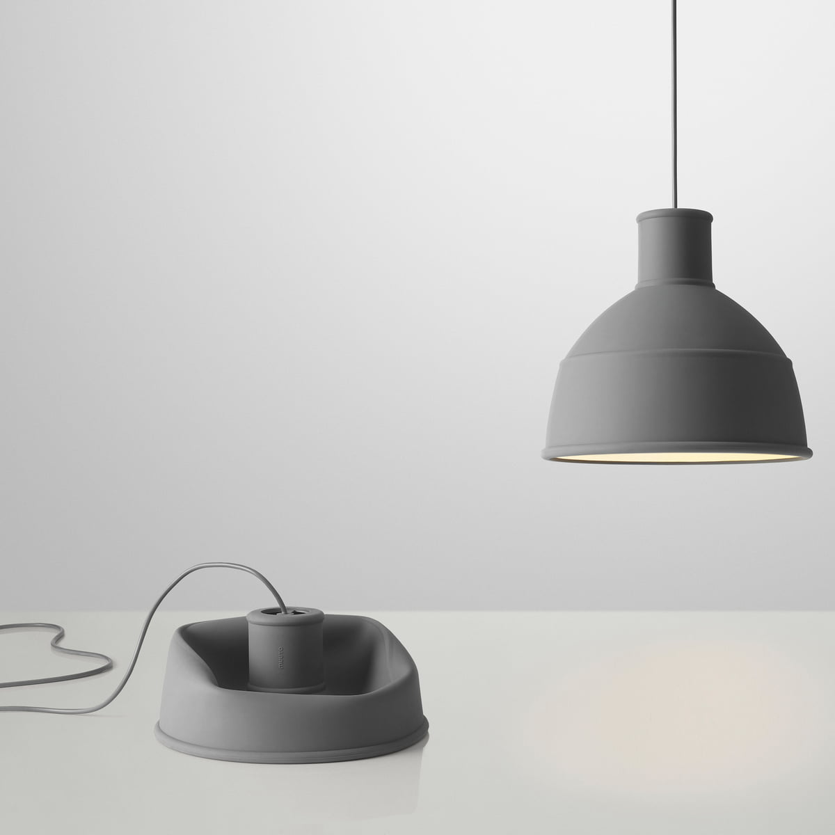 Unfold pendant lamp by muuto connox shop muuto unfold pendant lamp grey mozeypictures Images