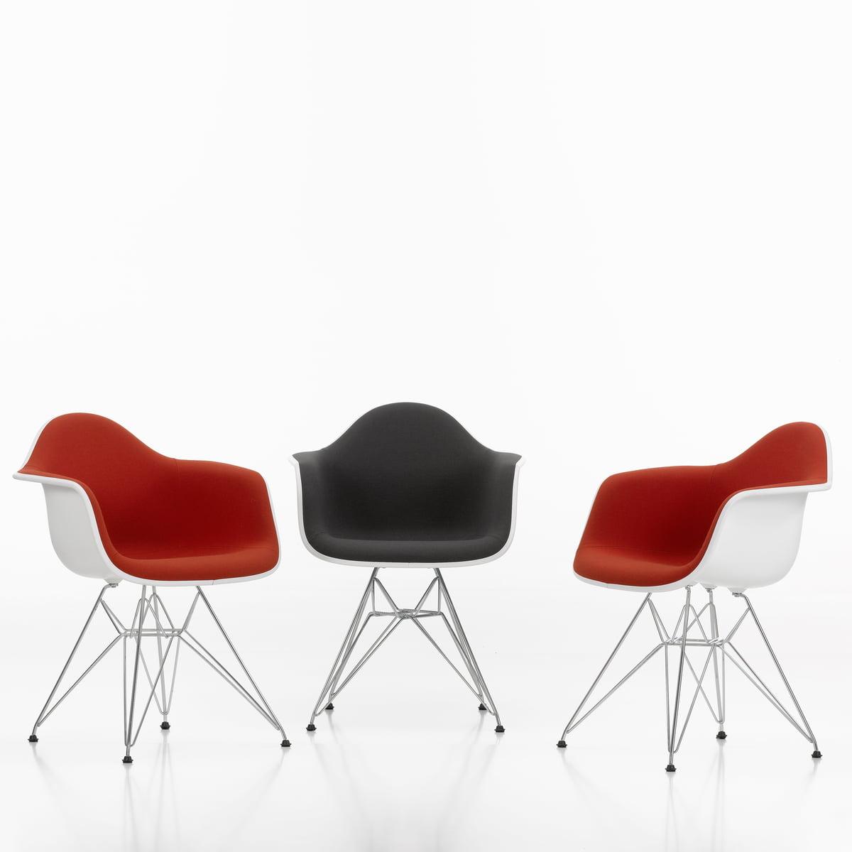 vitra eames plastic armchair dar upholstered. Black Bedroom Furniture Sets. Home Design Ideas