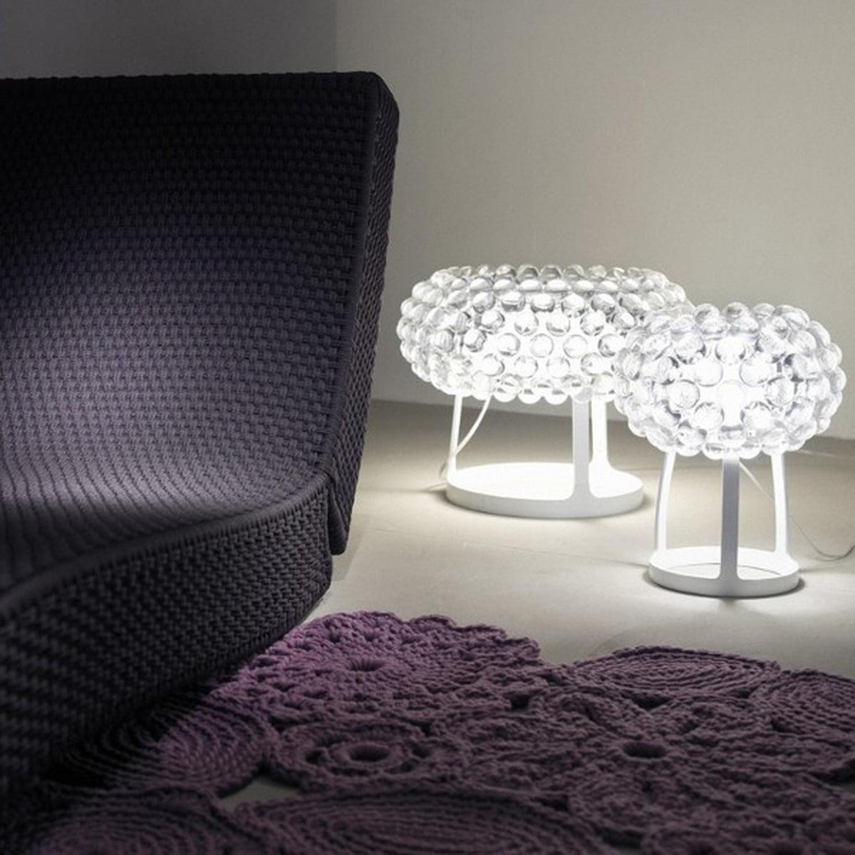 Lampe Caboche Patricia Urquiola foscarini - caboche piccola table lamp, transparent