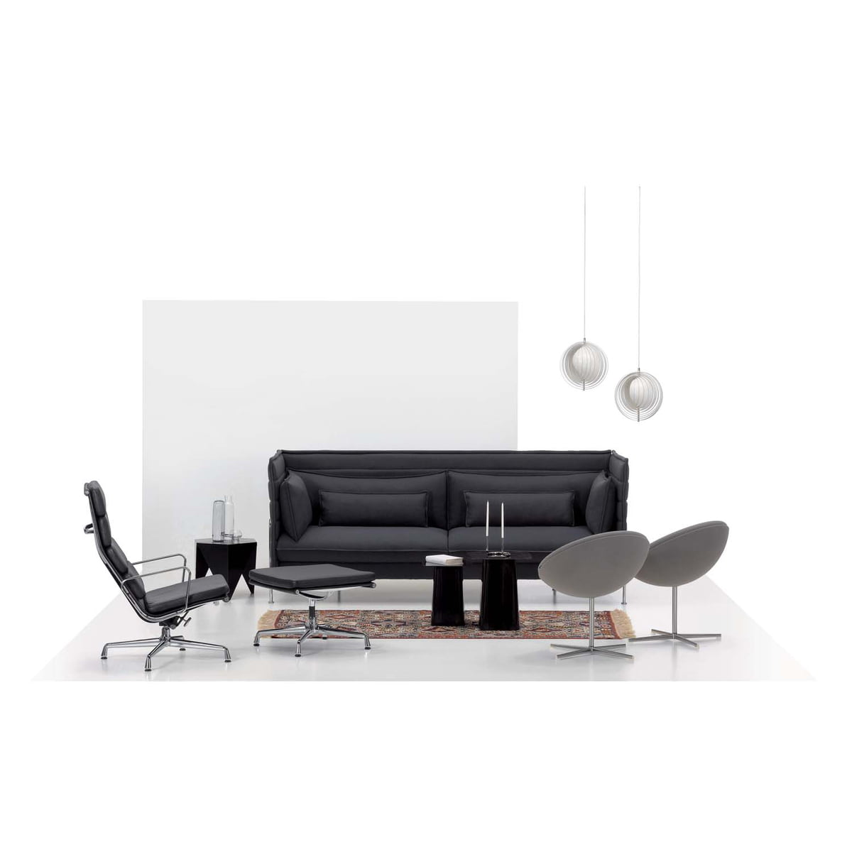 soft pad chair ea 222 by vitra in the shop. Black Bedroom Furniture Sets. Home Design Ideas