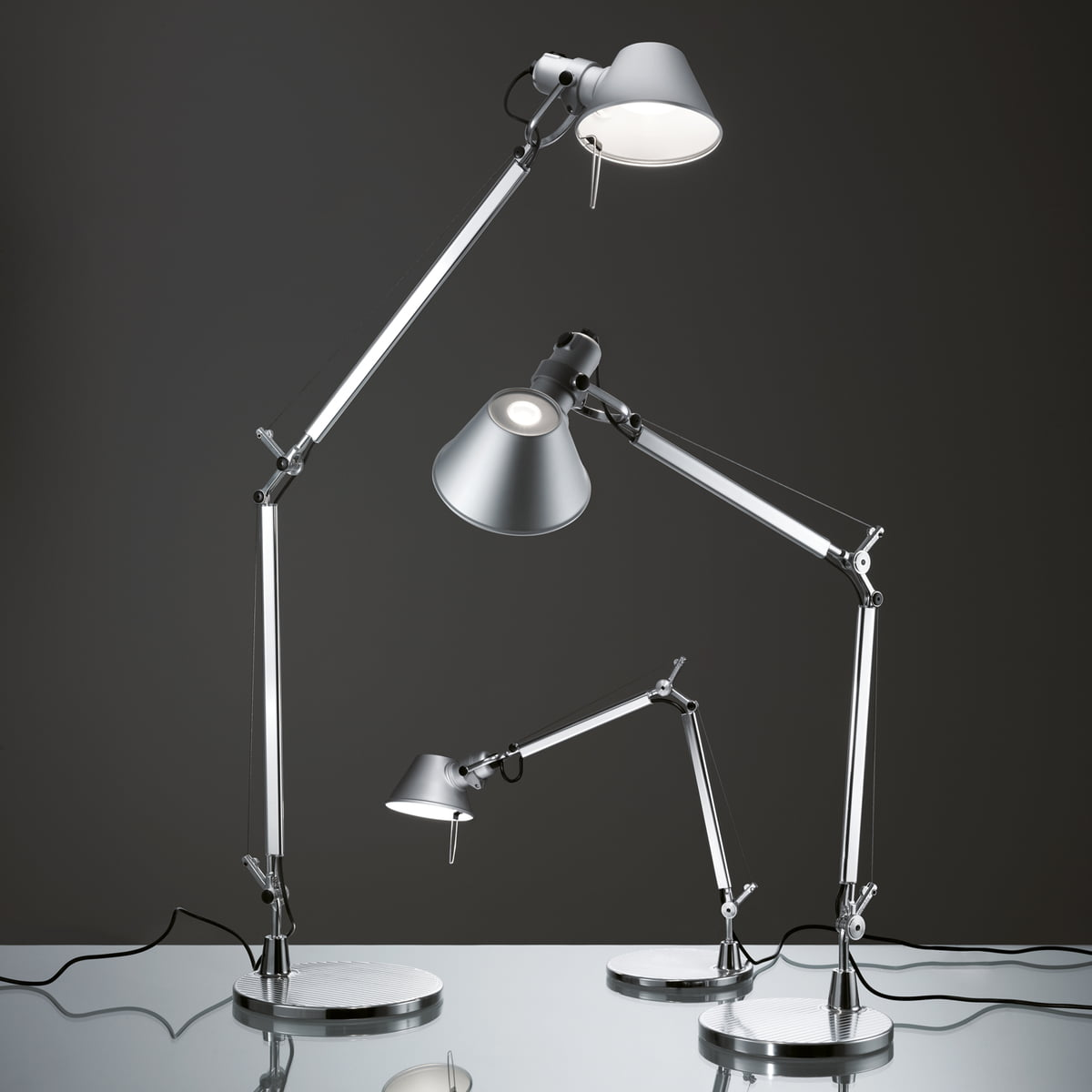 the tolomeo mini led table lamp by artemide. Black Bedroom Furniture Sets. Home Design Ideas