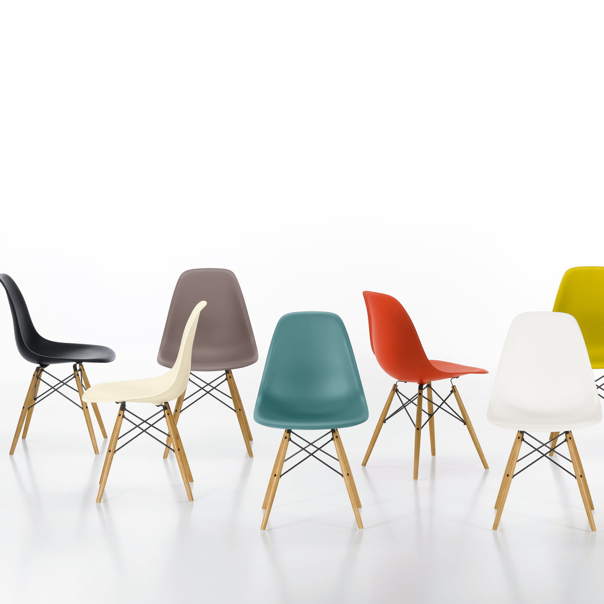 Eames plastic side chair dsw connox shop for Chaise dsw vitra