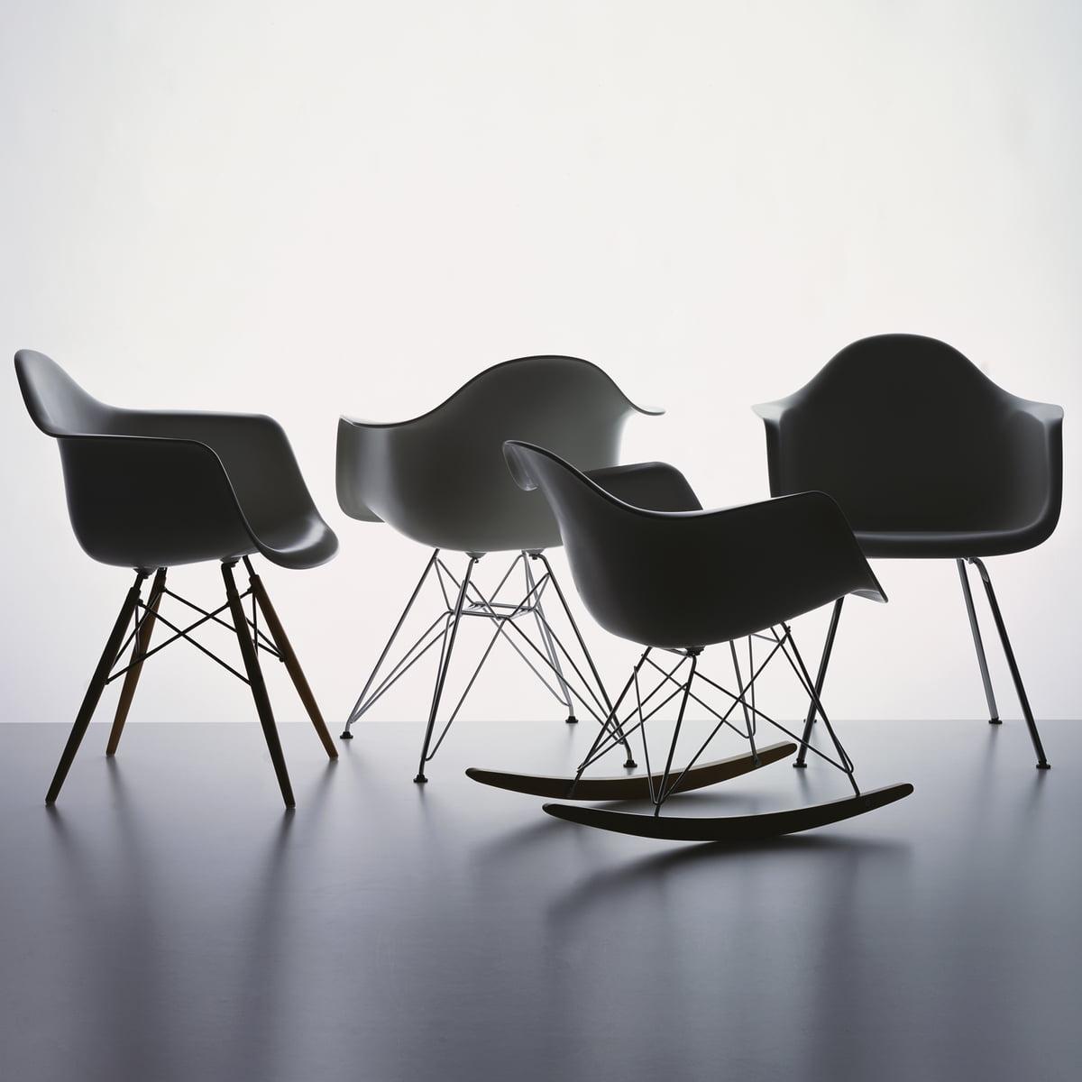 Vitra   Eames Plastic Armchair, Basalt   Group