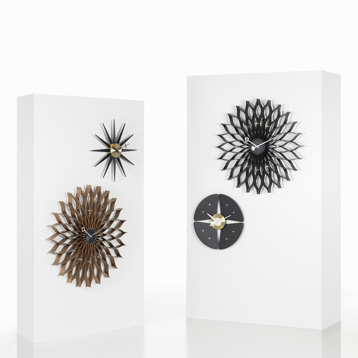 sunburst clock by vitra in the shop. Black Bedroom Furniture Sets. Home Design Ideas