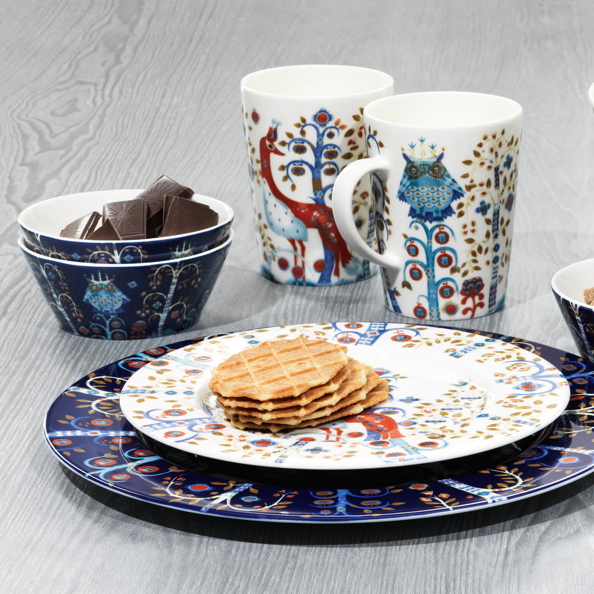 Iittala Taika group blue - ambience image & Taika - blue by Iittala in the home design shop