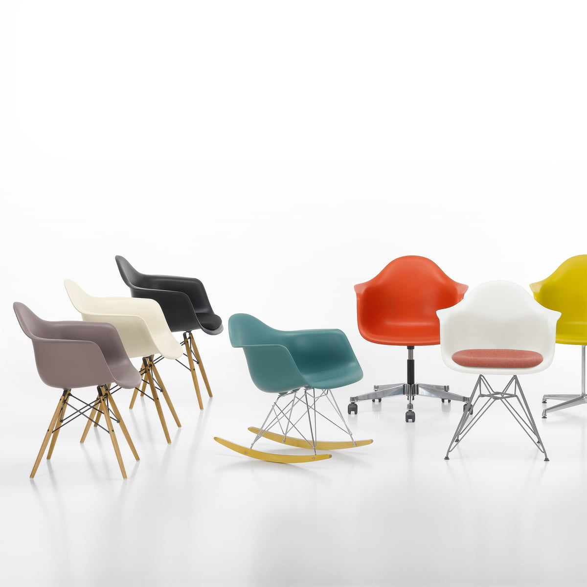 Vitra   Eames Plastic Armchairs, Group
