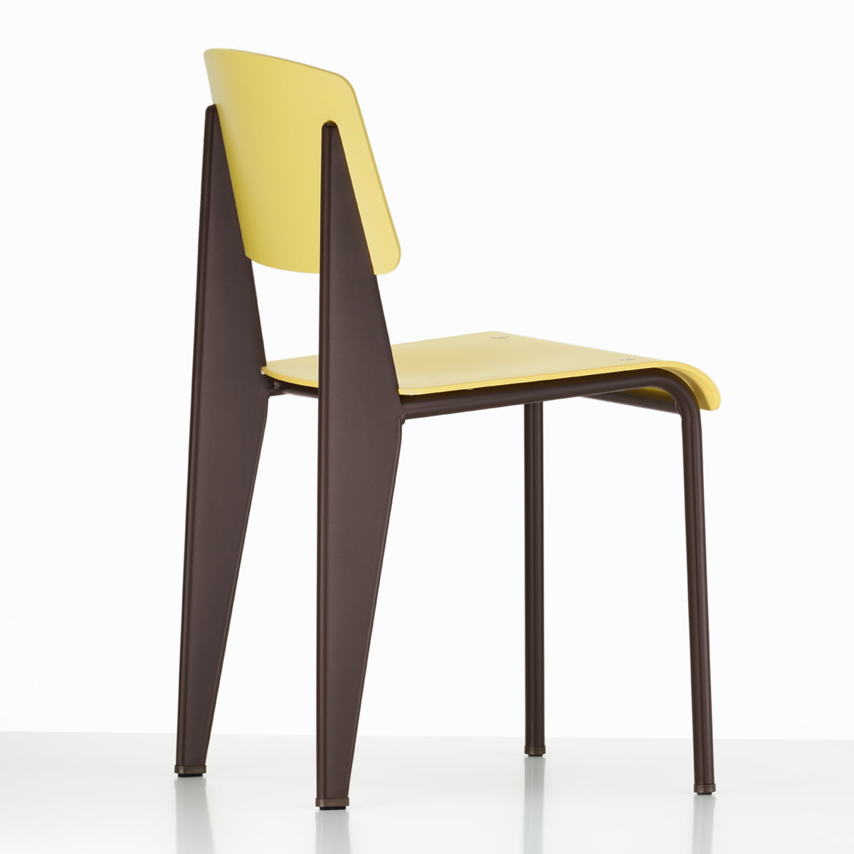 Beau Vitra   Prouvé Standard SP Chair, Citron   Back