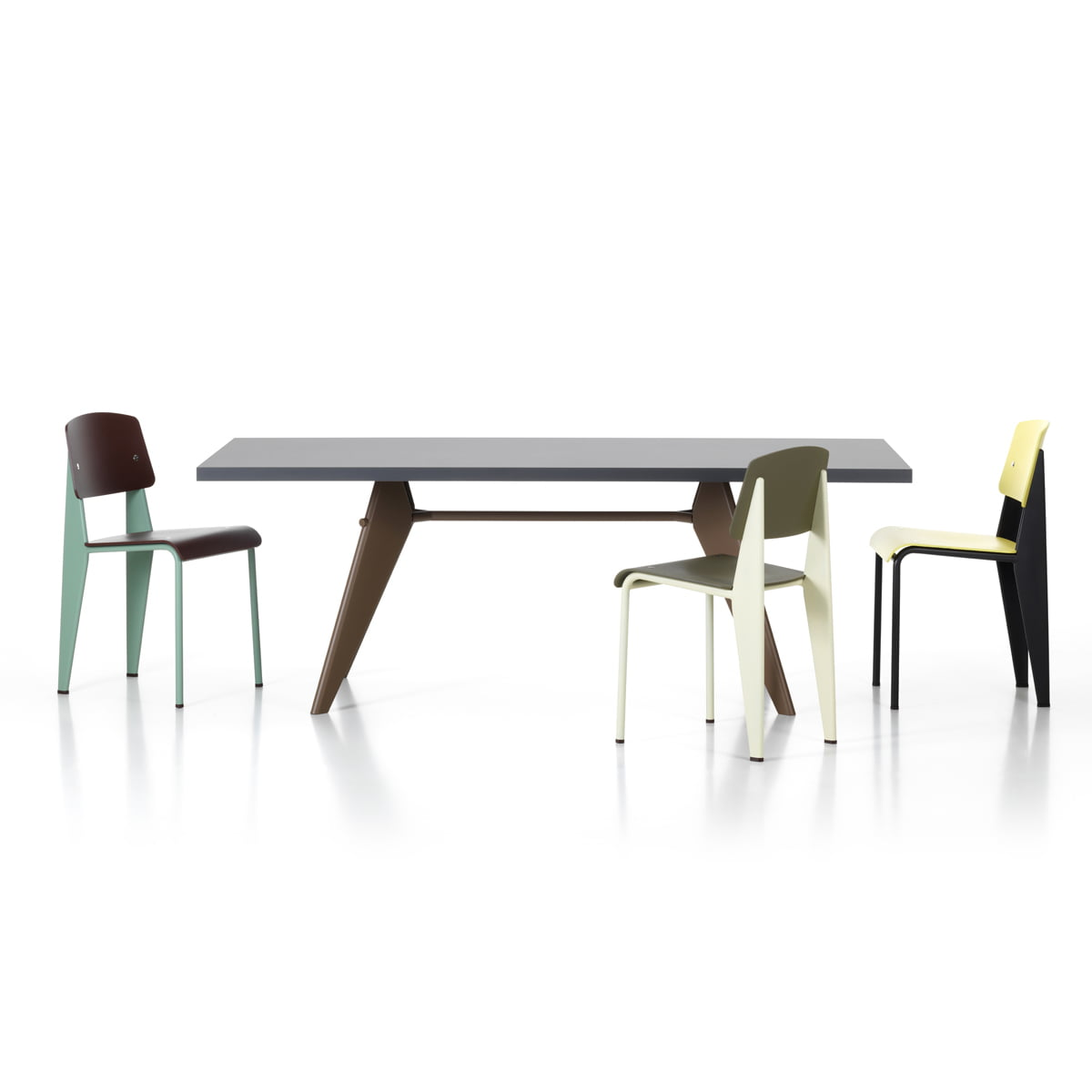Vitra   Prouvé Standard SP Chair, EM Table