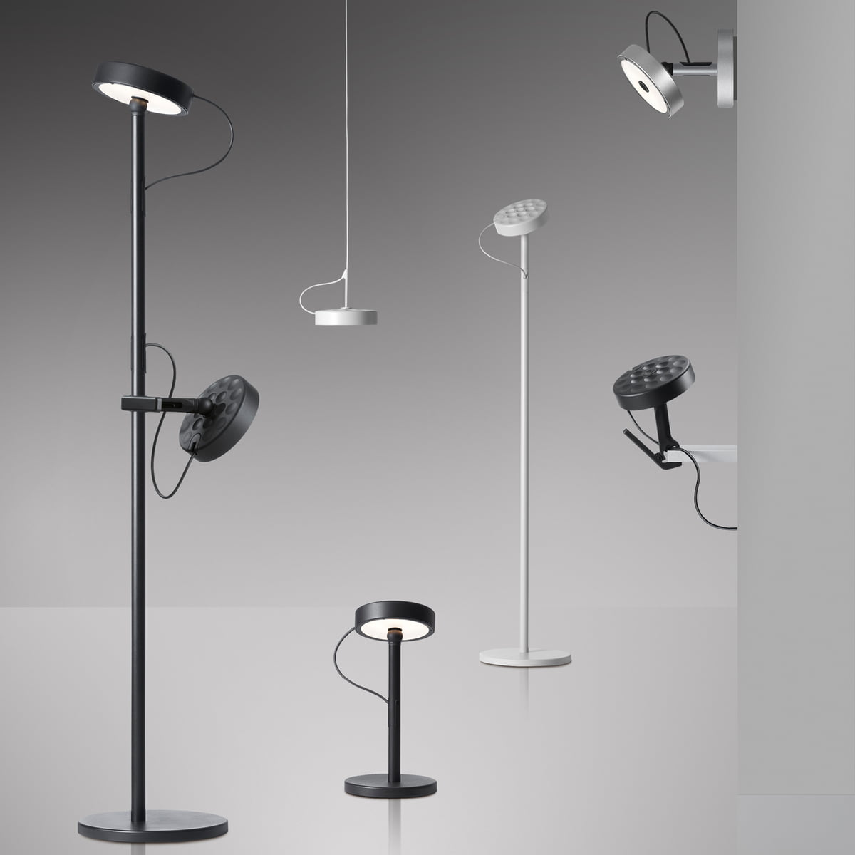 Belux U Turn Floor And Reading Lamp Collection