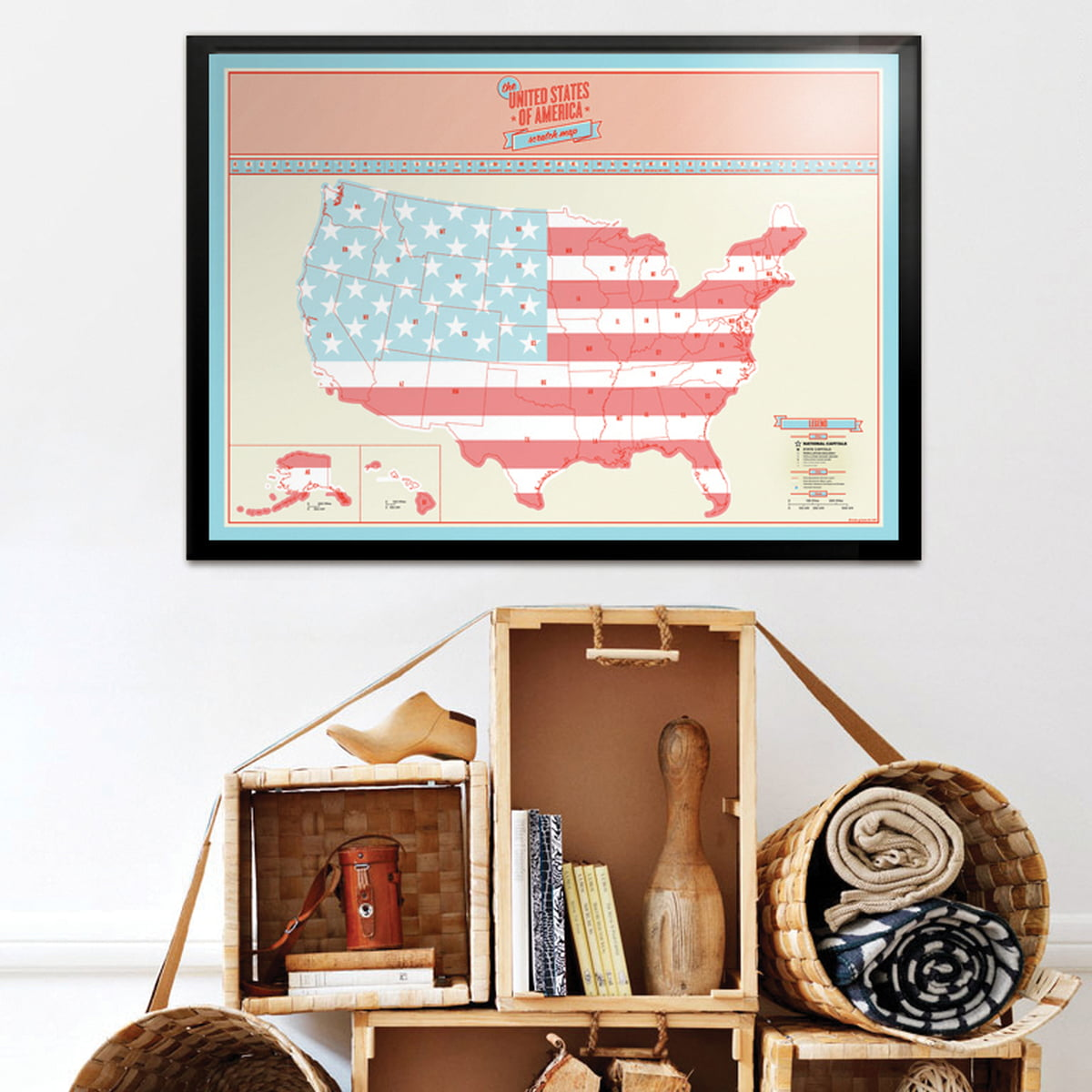 The Scratch Map USA by Luckies in the shop