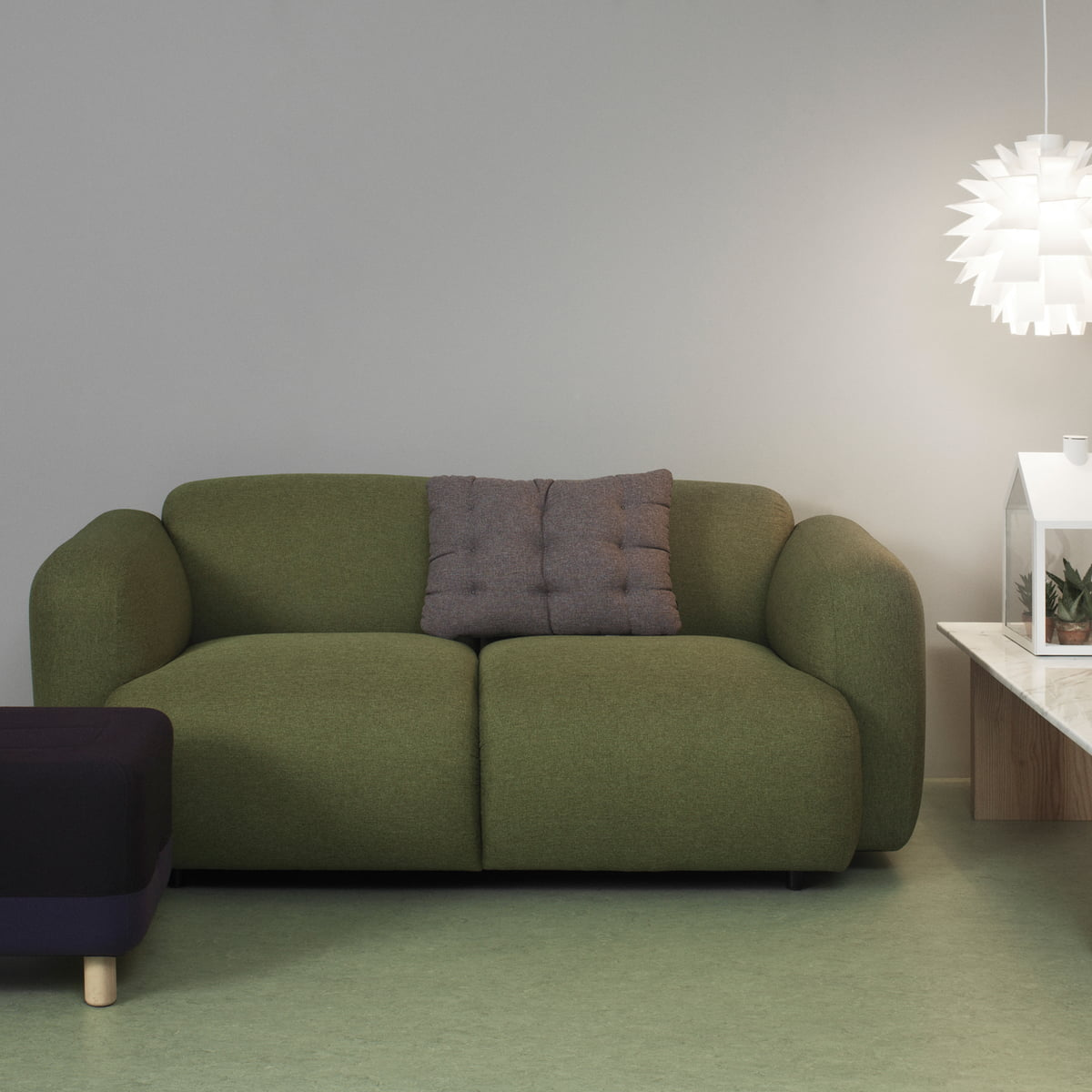 Normann Copenhagen Swell 2 Seats Green