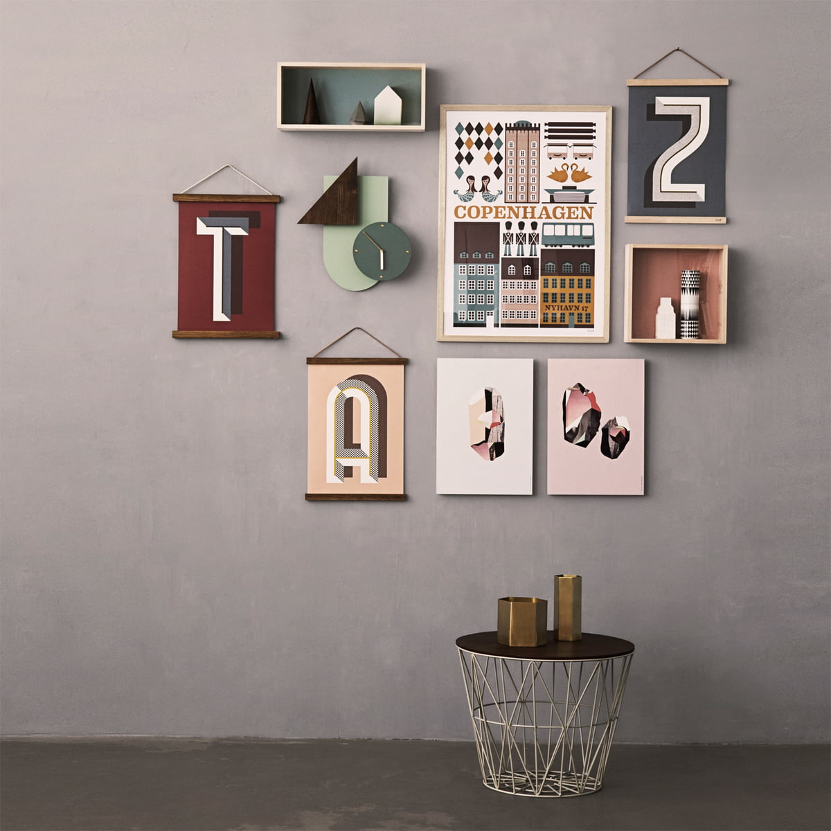 Schon Wall Decorations And Side Table By Ferm Living